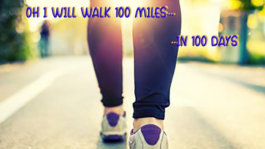 Oh I will walk 100 miles... in 100 (OK 103) days!