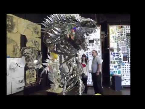 Large Sculpture made from recyclable items
