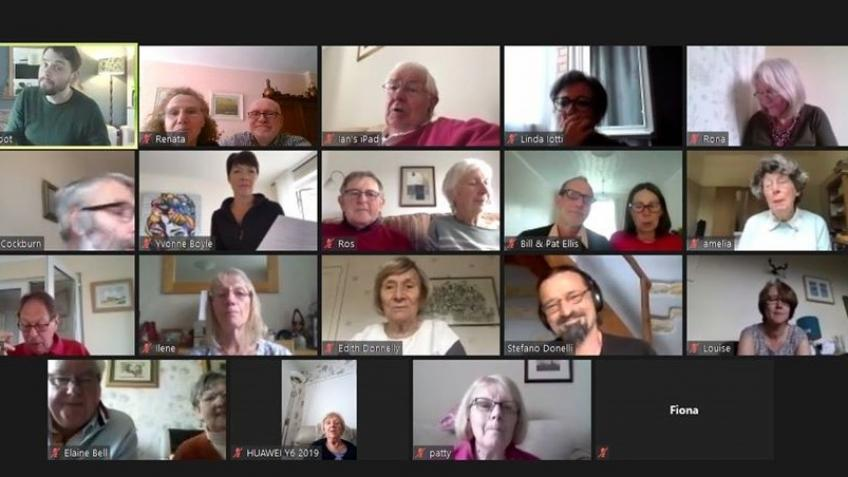 The Forget Me Notes Project Zoom Choir