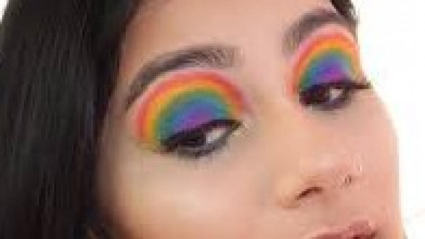 Online Live Rainbow Makeup Look