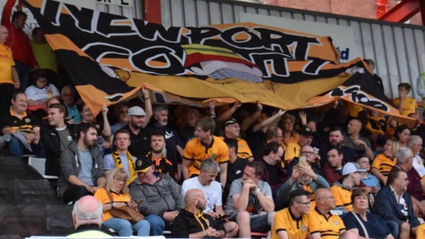 Newport County fans making up for lost crowds