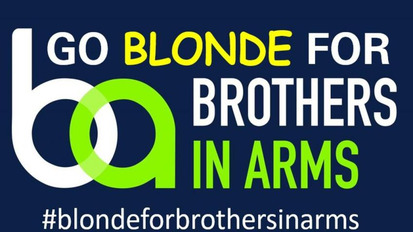 Going blonde for Brothers in arms