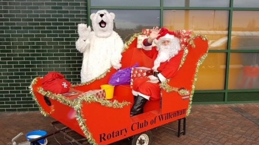 Santa Sleigh collection for Acorns Rainbow House