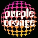 purple orange record label