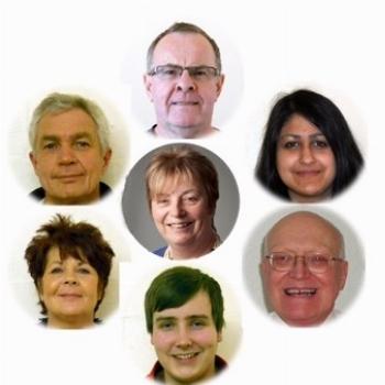 Springfield Community Association Board Members Stuart Hill, Amneet Graham, Ray Coker, James Kavanagh, Eileen Mullen, Eric Styan and Linda Hoffman
